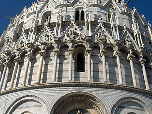 Nicola Pisano - Dome of the baptistery of Pisa