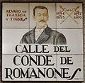 Placa de la calle del Conde de Romanones (cropped).JPG