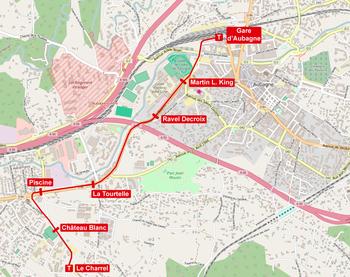 Tramway d 39 aubagne wikip dia for Piscine alain bernard aubagne