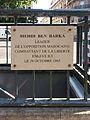Plaque Mehdi Ben Barka on boulevard Saint-Germain in Paris.jpg
