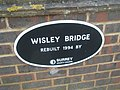 Plaque on Wisley Bridge - geograph.org.uk - 1170636.jpg