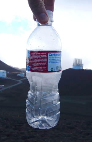 Plastic bottle sealed at 14,000 feet on Mauna ...