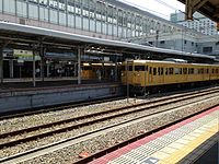 Platform of Okayama Station (Local lines) 2.JPG
