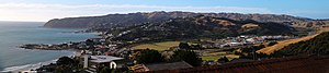 Plimmerton - Panorama of Plimmerton from Camborne