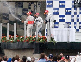 2007 Canadian Grand Prix - The podium celebrations.