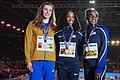Podium 60 m hurdles Birmingham 2018.jpg