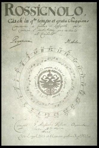 Alessandro Poglietti - Title page of Rossignolo (1677).