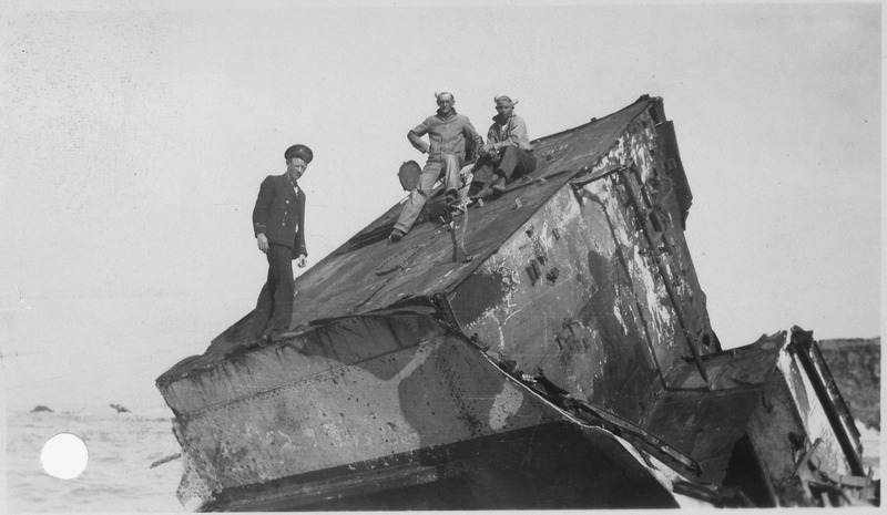 File:Point Honda shipwreck site September 8, 1923, Santa Barbara Co. California. Section of U.S.S. Lee, arrived on the... - NARA - 295443.tiff