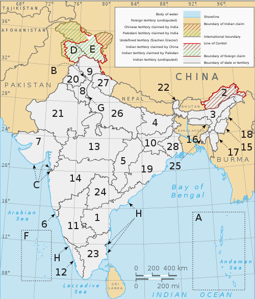 A clickable map of Indian states and territories.