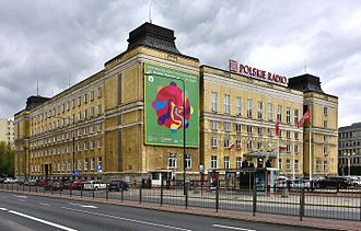Polskie Radio - Polish Radio's headquarters in Warsaw