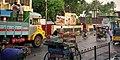Pondicherry morning steet scene (5735561116).jpg