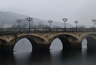 "Pontevedra - Burgo Bridge was built in the 12th century near the former site of a Roman bridge, the ""old bridge"" that gave the city its name."