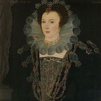 Anne Newdigate (1574–1618) - AnneNewdigate in 1592