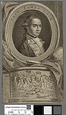 Printed engraving of Captain James Cook