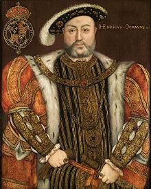 Re Enrico VIII divenne Capo Supremo della Chiesa d'Inghilterra.