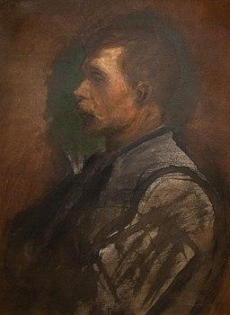 Portrait of a man - painting by László Mednyánszky-2