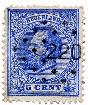 Herman Frederik Carel ten Kate (artist) - 1872 stamp designed by Ten Kate