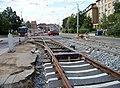 Průběžná, rekonstrukce TT, výjezd ze smyčky Radošovická.jpg