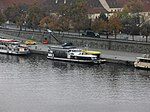 Praha, Staré Město, loď Gladius u nemocnice Na Františku (01).jpg