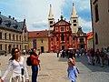 Praha - Hrad III.nádvoří - View ENE towards Bazilika svatého Jiří.jpg