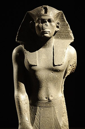 Praying statue of king Amenemhet III. Neues Museum, Berlin.