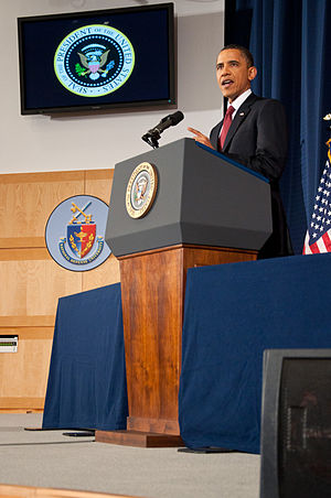 English: On Monday, March 28, 2011, President ...