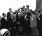President Dwight D. Eisenhower, Dr. von Braun and Others.jpg