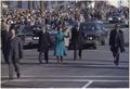 President Jimmy Carter and Rosalynn Carter walk down Pennsylvania Avenue during Inauguration. - NARA - 173376.tif