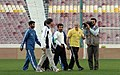 President Mahmoud Ahmadinejad, Iran's national football (soccer) team - 28 February 2006 (4 8412090596 L600).jpg