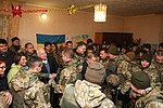 President of Ukraine Petro Poroshenko congratulated Ukrainian warriors on New Year and Christmas and heard the report on the situation in the ATO area, 31 December 2016 (4).jpg