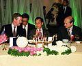 Prime Minister Chuan Likphai hosts a dinner welcoming Secretary of Defense William S. Cohen.jpg