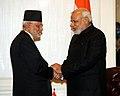 Prime Minister Modi meets Nepali PM Sushil Koirala in New York.jpg