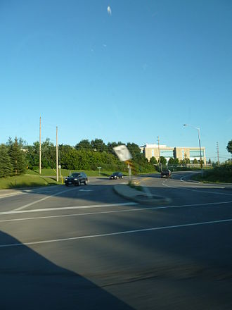 Merivale Road (Ottawa) - The end of Merivale Road and Prince of Wales Drive