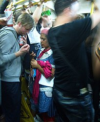 Private Chat at the Circle Line Party (2540701530).jpg