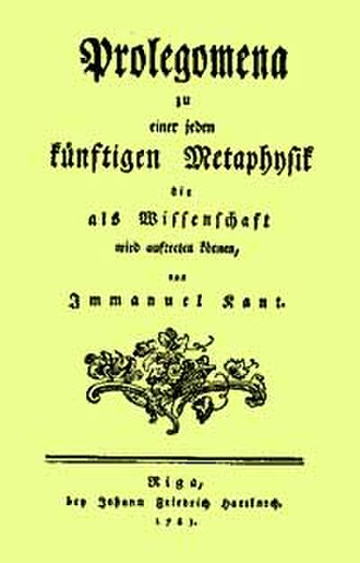 Prolegomena to Any Future Metaphysics - The German edition