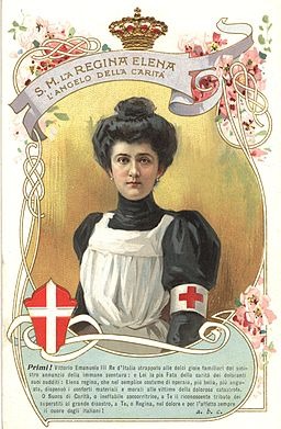 Queen Elena of Italy in nurse's uniform, 1914-1918