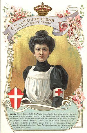 Elena of Montenegro - Elena in nurse's uniform, 1914-1918