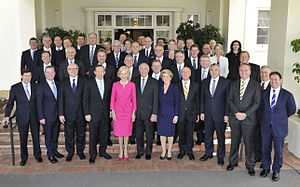 Abbott Government - The Abbott government after being commissioned by Quentin Bryce on 18 September 2013.