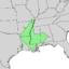 Quercus texana range map 1.png