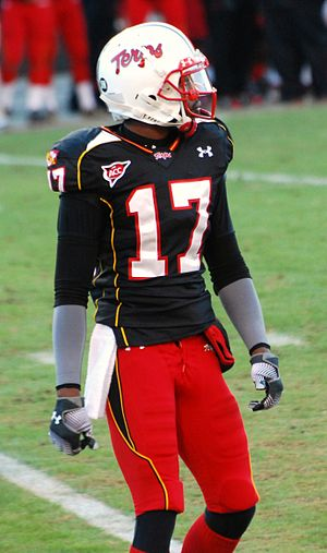 2009 Maryland Terrapins football team - Wide receiver Quintin McCree during the game against Boston College.