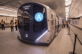 R211 (New York City Subway car) - Full size mock up of R211 in Hudson Yards, November 2017.