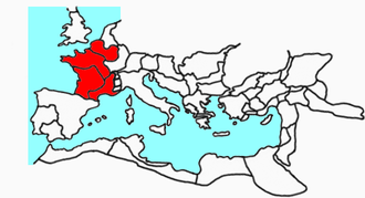 Roman Gaul - Roman Gaul within the Roman Empire at the time of its greatest extent (AD 117)