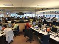 RNW's newsroom - with the big central desk (4461774453).jpg
