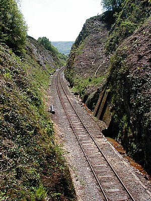 Cut (earthmoving) - Image: Railway Cutting at the summit of Talerddig bank geograph.org.uk 195516