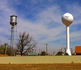 Ralls, Texas - Water towers in Ralls