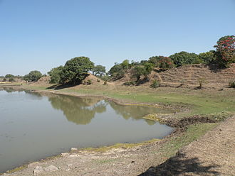 Dhar - One of few remaining portions of the Paramāra-period ramparts at Dhār