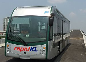 Rapid Bus - Rapid KL BYD K9 battery-run electric bus for BRT Sunway Line
