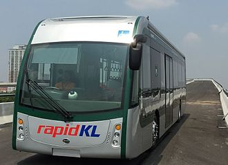 BYD K9 - A BYD battery-run electric bus on Rapid KL