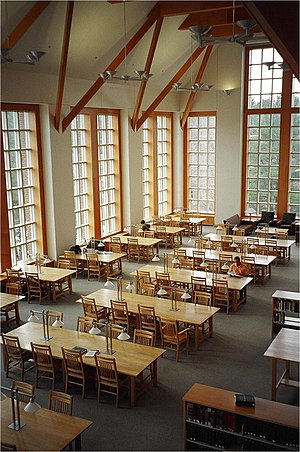 Robert Morin (librarian) - Reading room in Dimond Library