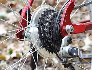 Rear gears on a bicycle